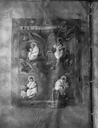 Schatzkammer-Evangeliar — Evangelistenbild