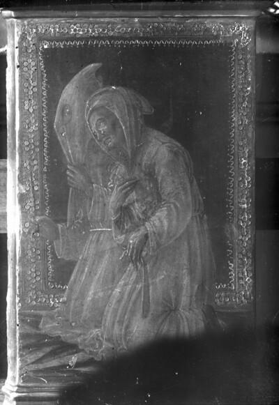 Predellafragment: Zwei kniende Mönche