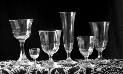 Sechs Gläser