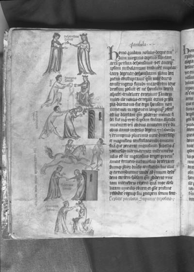Kunigundenpassional / Textus de Christi passione / Passionale quod dicitur Cunegundis abbatissae — Parabel um eine Königin, Folio 3v