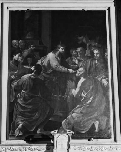 Christus gibt den Aposteln die Kommunion