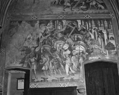 Ausmalung der Cappella della Croce — Kreuzlegende — Kreuzraub durch Chosrau