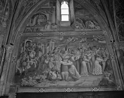 Ausmalung der Cappella della Croce — Szenen zum Tod Mariens und Geburt Christi — Bethlehemitischer Kindermord