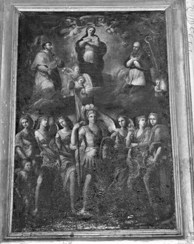 Madonna, heiliger Kajetan und heiliger Borromäus sowie die sieben Erzengel mit Tobias