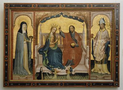 Altartafel — Fürbitte der Muttergottes bei Christus