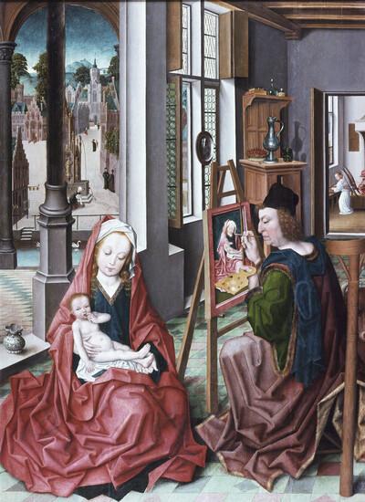 Der heilige Lukas malt die Madonna