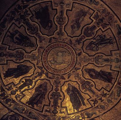 Lamm Gottes mit Patriarchen, Propheten, Maria und Johannes dem Täufer