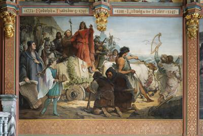 Die Überführung des Grundsteins zum Kölner Dom unter Erzbischof Konrad von Hochstaden vom Steinbruch am Drachenfels 1248