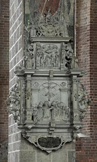 Epitaph des Pastors Daniel Mahs (gest. 1618)