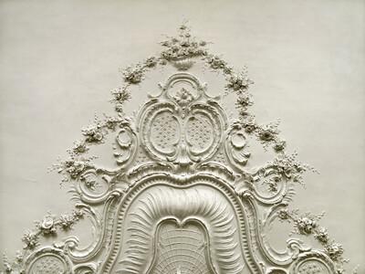 Deckendekoration im Italienischen Salon