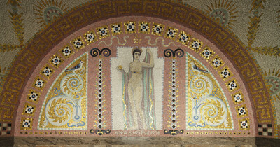 Wandmosaik mit Venus