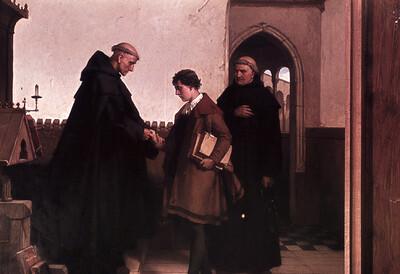 Luthers Aufnahme in das Augustinerkloster zu Erfurt