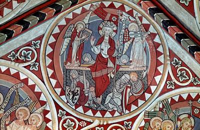 westliche Gewölbekappe — Bildfeld: Auferstehung Christi