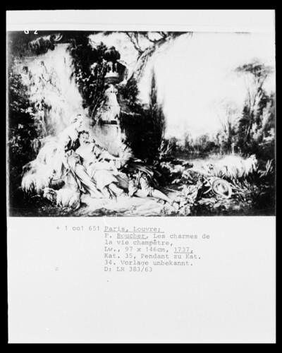 Les charmes de la vie champêtre / Berger et bergères