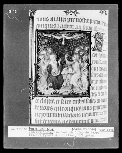 Petites Heures des Herzogs von Berry — Kleinbild, 10-zeilig: Pfingsten, Folio 197verso