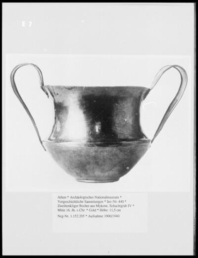 Zweihenkliger Becher aus Mykene, Schachtgrab IV