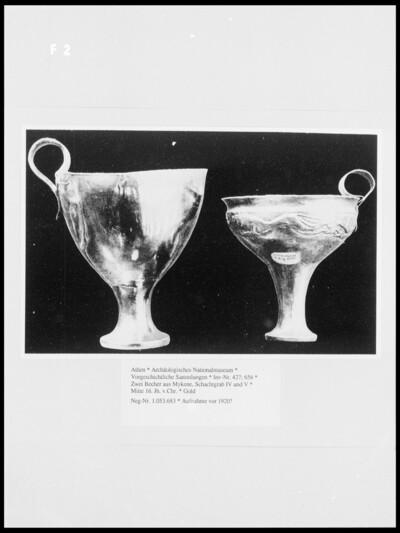 Zwei Becher aus Mykene, Schachtgrab IV und V