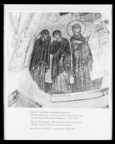 Mosaikzyklus mit Szenen aus dem Leben Christi und verschiedene Heiligendarstellungen — Kreuzigung Christi