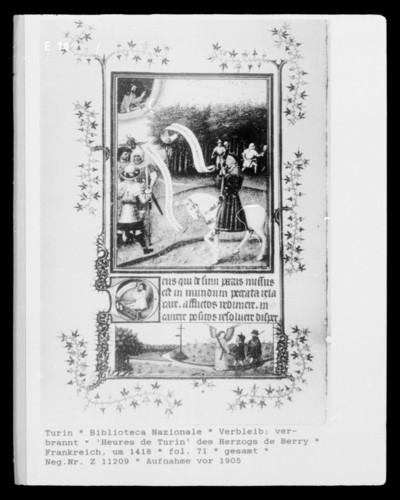 Heures de Turin des Herzogs de Berry — fol. 71