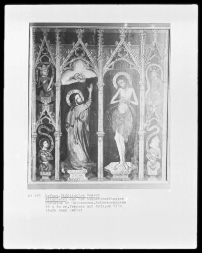 Vier Altartafeln — Christus am Ölberg; Christus als Schmerzensmann