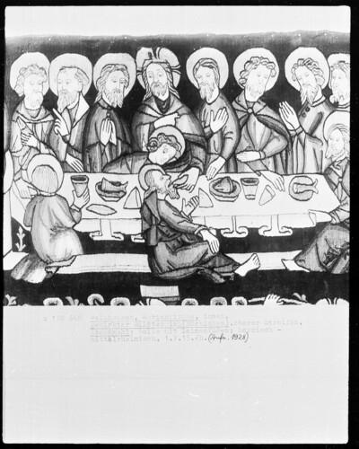 Passionsteppich, oberer Streifen: Abendmahl