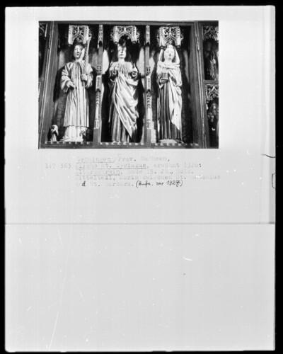 Maria zwischen Sankt Antonius und Sankt Barbara