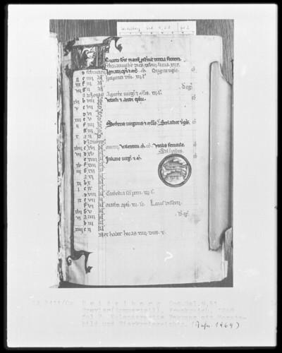 Brevier und Kalendar — Kalendar, Folio 2-7 — Kalenderseite Februar, Folio 2recto