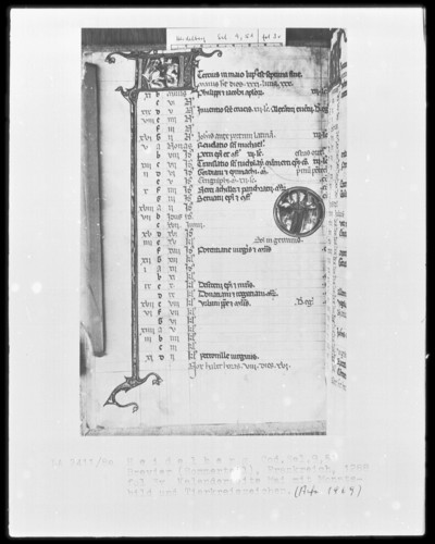 Brevier und Kalendar — Kalendar, Folio 2-7 — Kalenderseite Mai, Folio 3verso