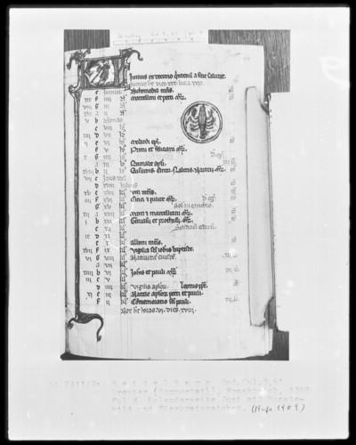 Brevier und Kalendar — Kalendar, Folio 2-7 — Kalenderseite Juni, Folio 4recto