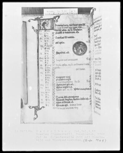 Brevier und Kalendar — Kalendar, Folio 2-7 — Kalenderseite Juli, Folio 4verso