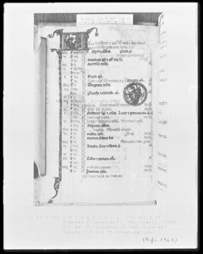Brevier und Kalendar — Kalendar, Folio 2-7 — Kalenderseite September, Folio 5verso