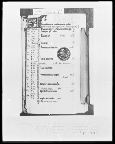 Brevier und Kalendar — Kalendar, Folio 2-7 — Kalenderseite Oktober, Folio 6recto
