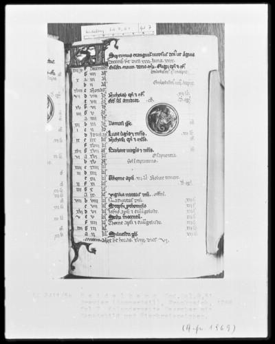 Brevier und Kalendar — Kalendar, Folio 2-7 — Kalenderseite Dezember, Folio 7recto