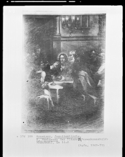 Rosenkranzbild: das Abendmahl