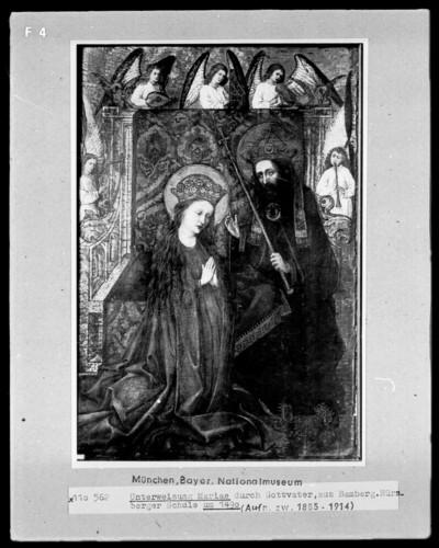 Unterweisung Mariae durch Gottvater
