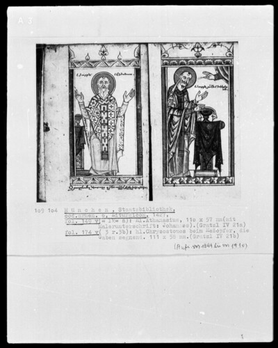 Breviar und Liturgicon — Liturgicon, Folio 123recto-284recto — ---, Folio ---Heiliger Chrysotomos beim Meßopfer, Folio 174verso