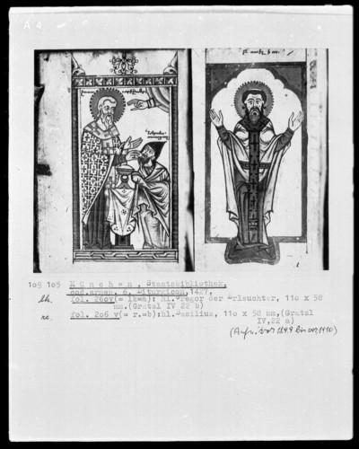 Breviar und Liturgicon — Liturgicon, Folio 123recto-284recto — ---, Folio ---Heiliger Gregor der Erleuchter, Folio 260verso