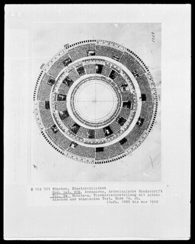 Avenares, Astrologische Handschrift — Monats- und Tierkreisdarstellung, Folio 9verso