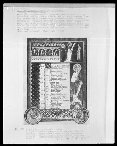 Psalterium mit Kalendarium — Kalendar, Folio 1verso-7recto