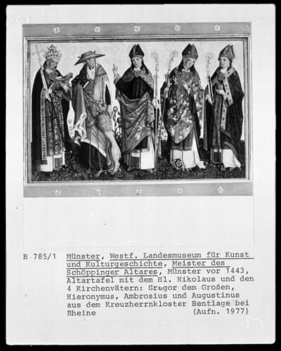 Der heilige Nikolaus und die vier Kirchenväter
