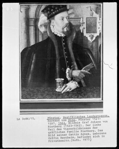 Familienbildnis Rietberg — Bildnis des Grafen Johann von Rietberg