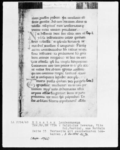 Textseite mit geschwänzten Lombarden (Seite 33)