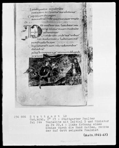 Der Stuttgarter Bibelpsalter — Krönung Davids?, Folio 24verso