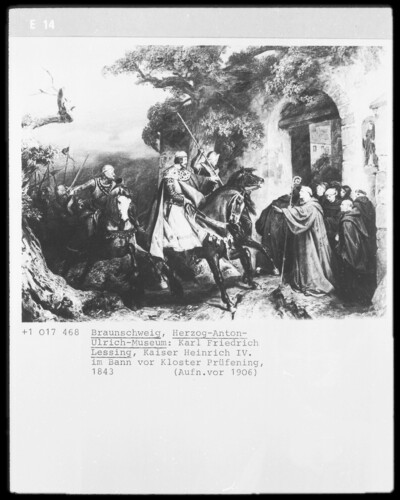 Kaiser Heinrich 5. im Bann vor Kloster Prüfening