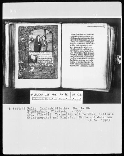 Stundenbuch — Maria und Johannes, Folio 172verso