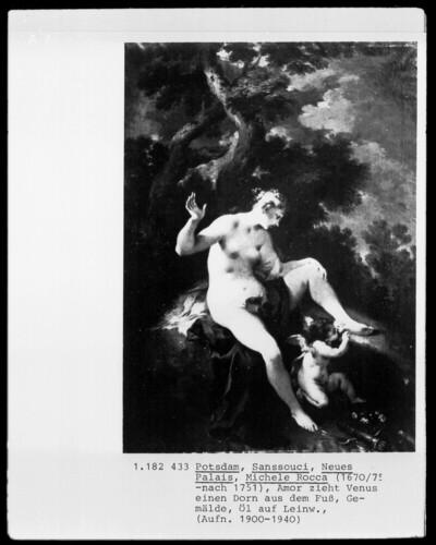 Amor zieht Venus einen Dorn aus dem Fuß