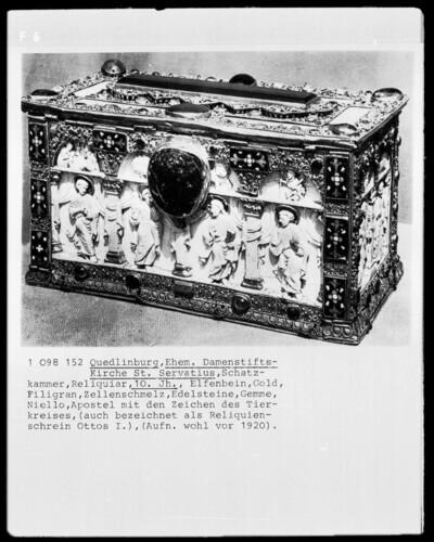 Reliquienschrein Ottos I.: Die 12 Apostel und die 12 Tierkreiszeichen