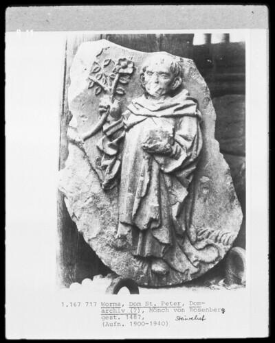 Bauschmuckfragment - Mönch von Rosenberg