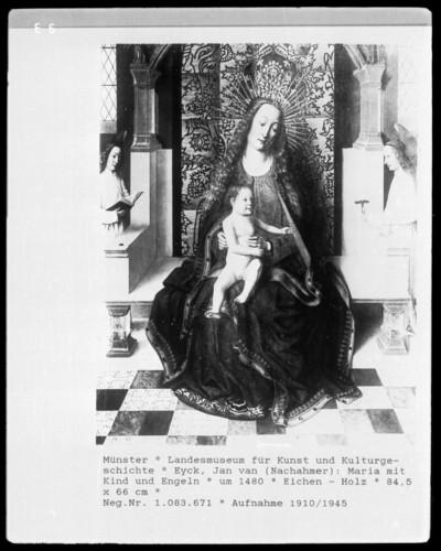 Maria mit Kind und Engel