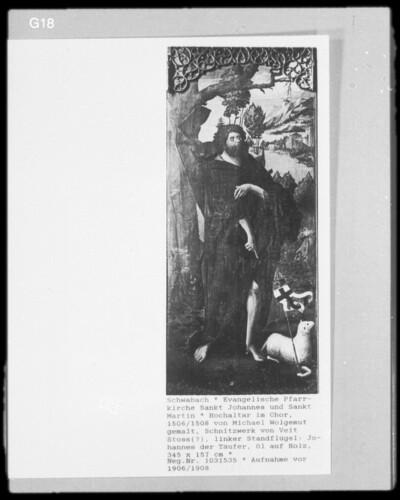 Johannes der Täufer mit Agnus Dei